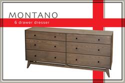 Montano 6 drawer dresser