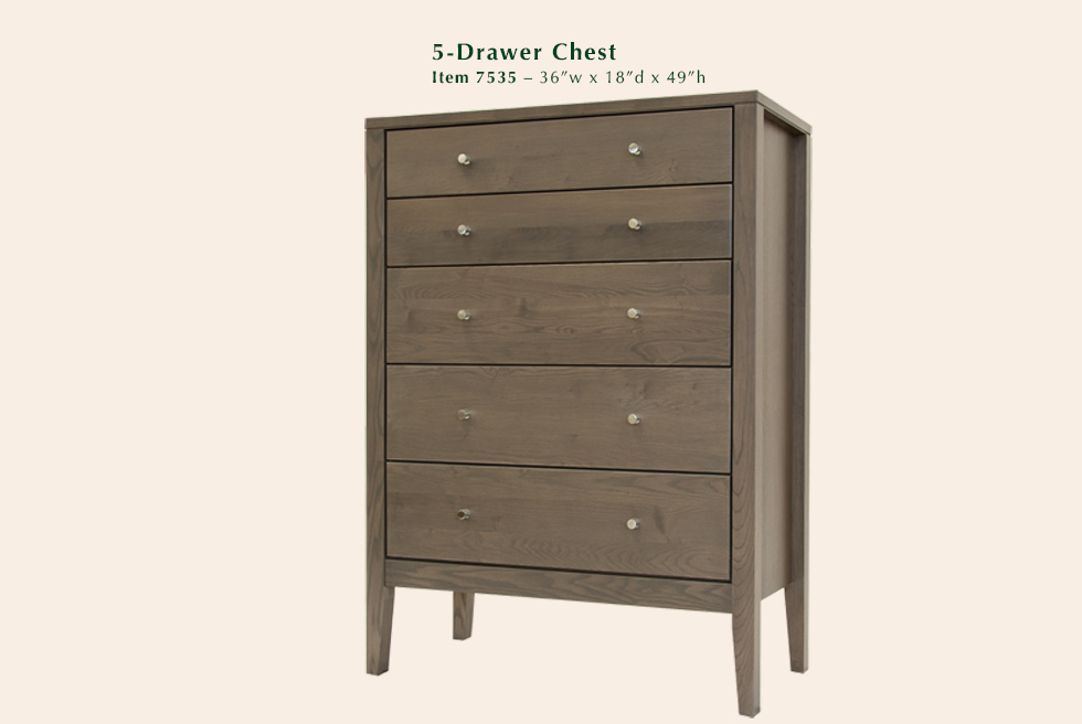Calvin 5 Drawer Chest