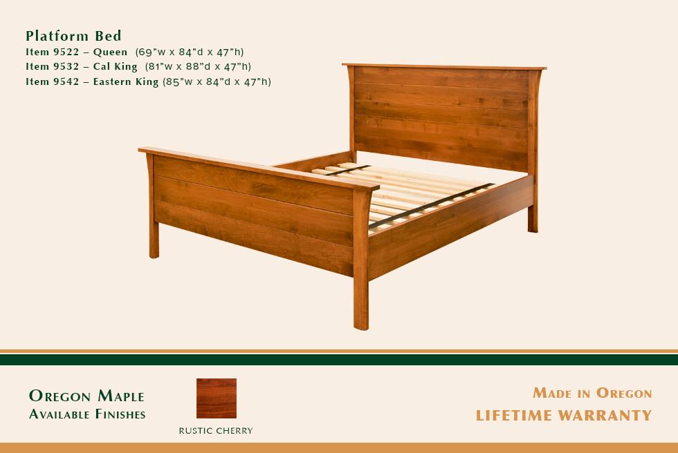 Keizer Platform Bed
