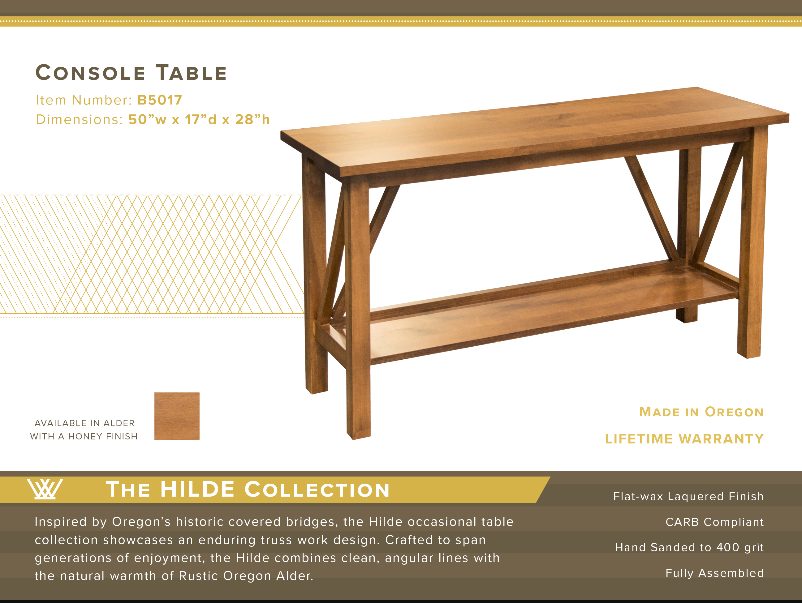 Hilde Console Table #B5017