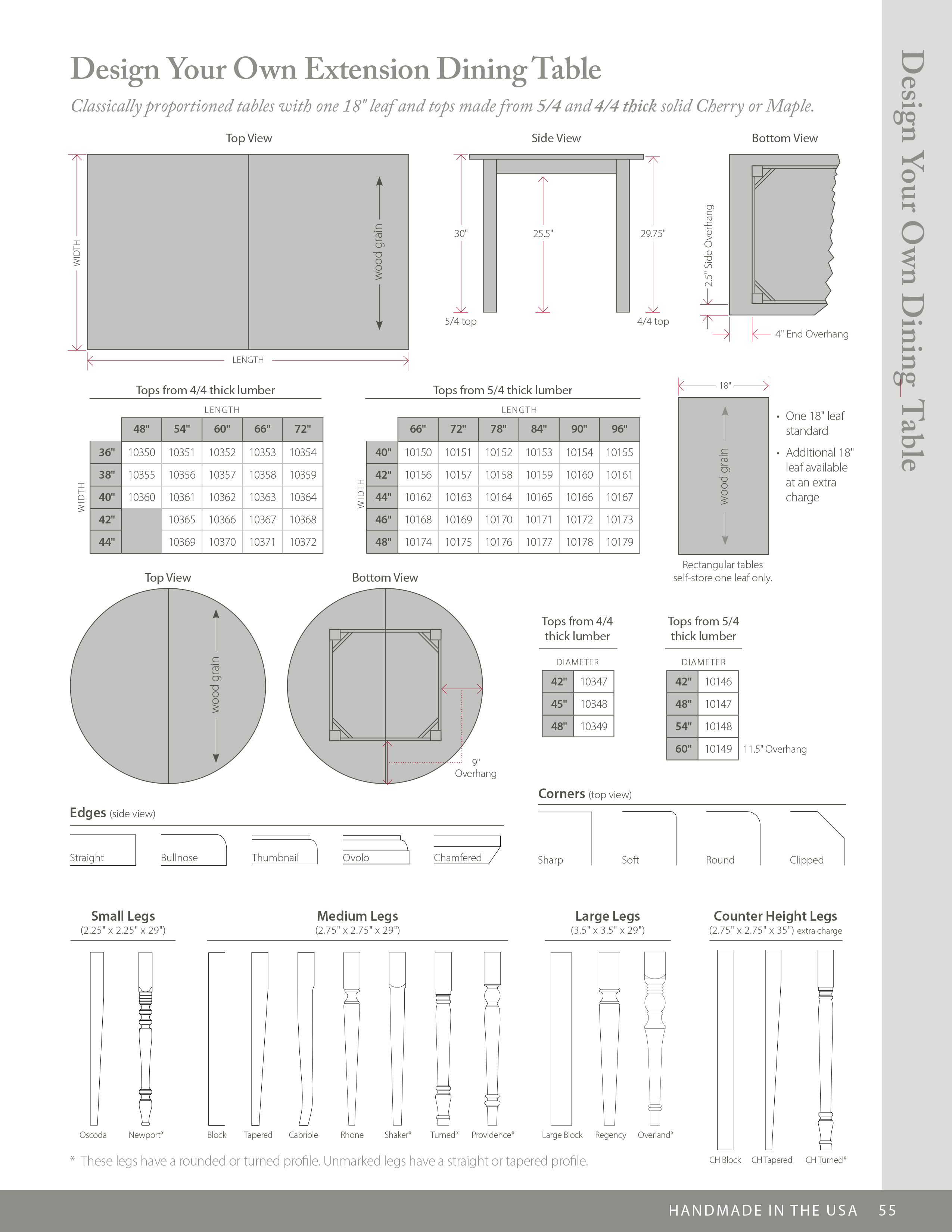 Design Your Own Extension Table