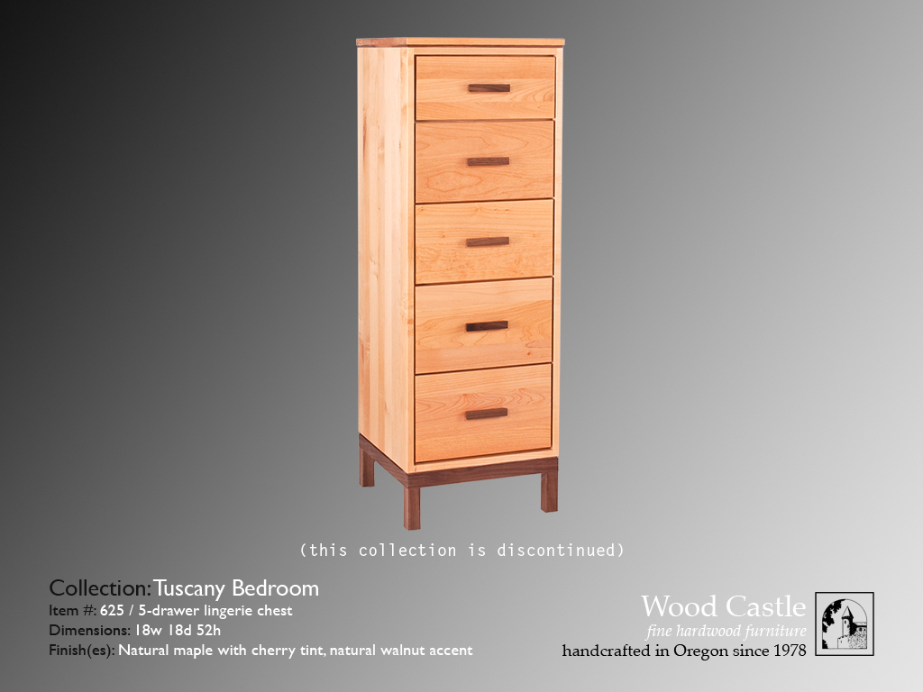 Tuscany maple 625 5-drawer lingerie