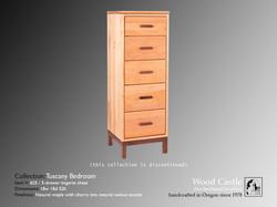 Tuscany maple 625 5-drawer lingerie