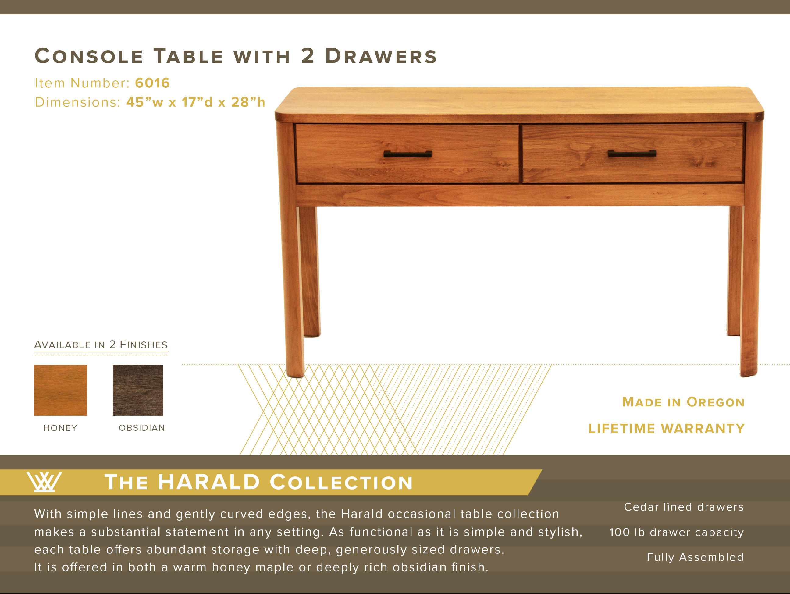 Harald Console Table #6016