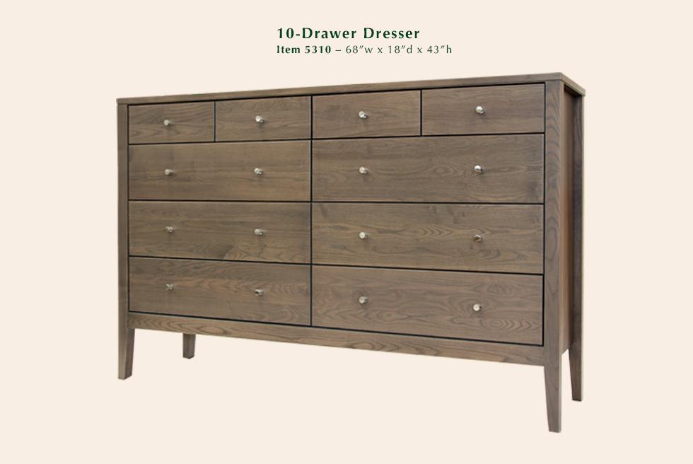 Calvin 10 Drawer Dresser