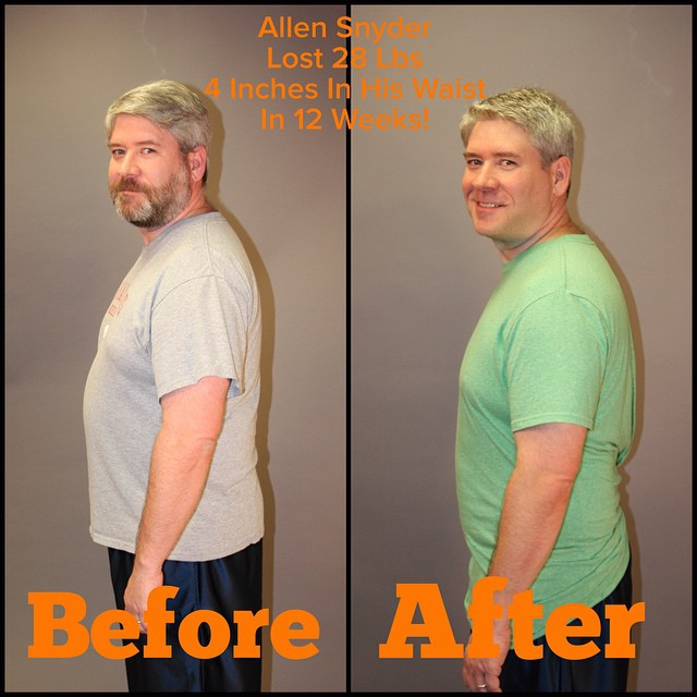 Allen Snyder lost 28 lbs