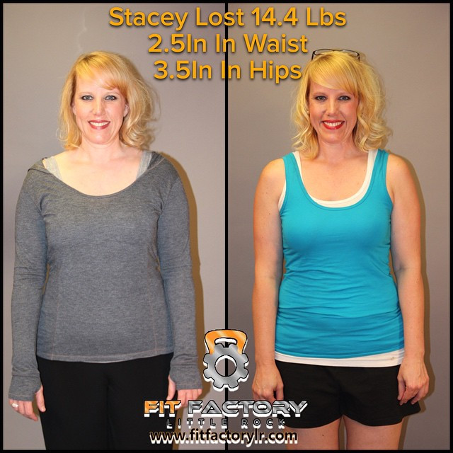 Stacey lost 14.4 lbs