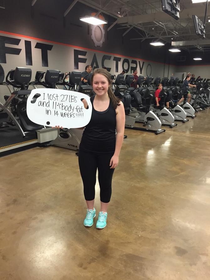 Leah Lost 27 lbs in 14 Weeks