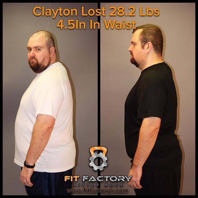 Clayton lost 28.2lbs
