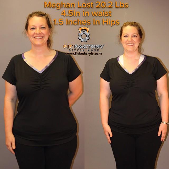 Meghan lost 20.2 lbs
