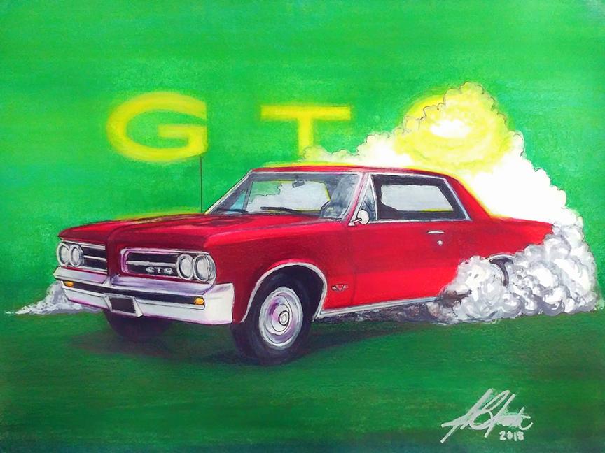 '64 GTO Burnout