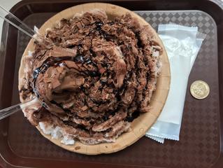 【チョコキング】伊豆高原で、一足お先にかき氷頂きます!