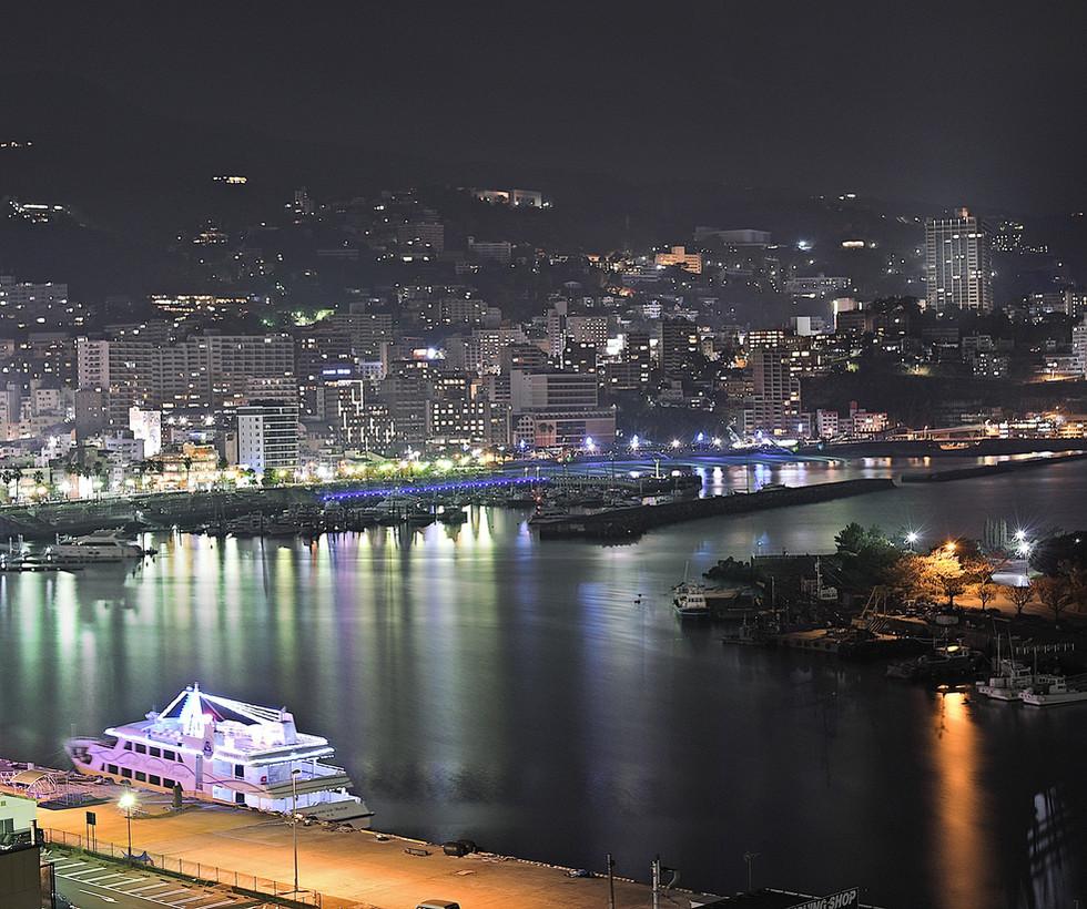 熱海港の夜景