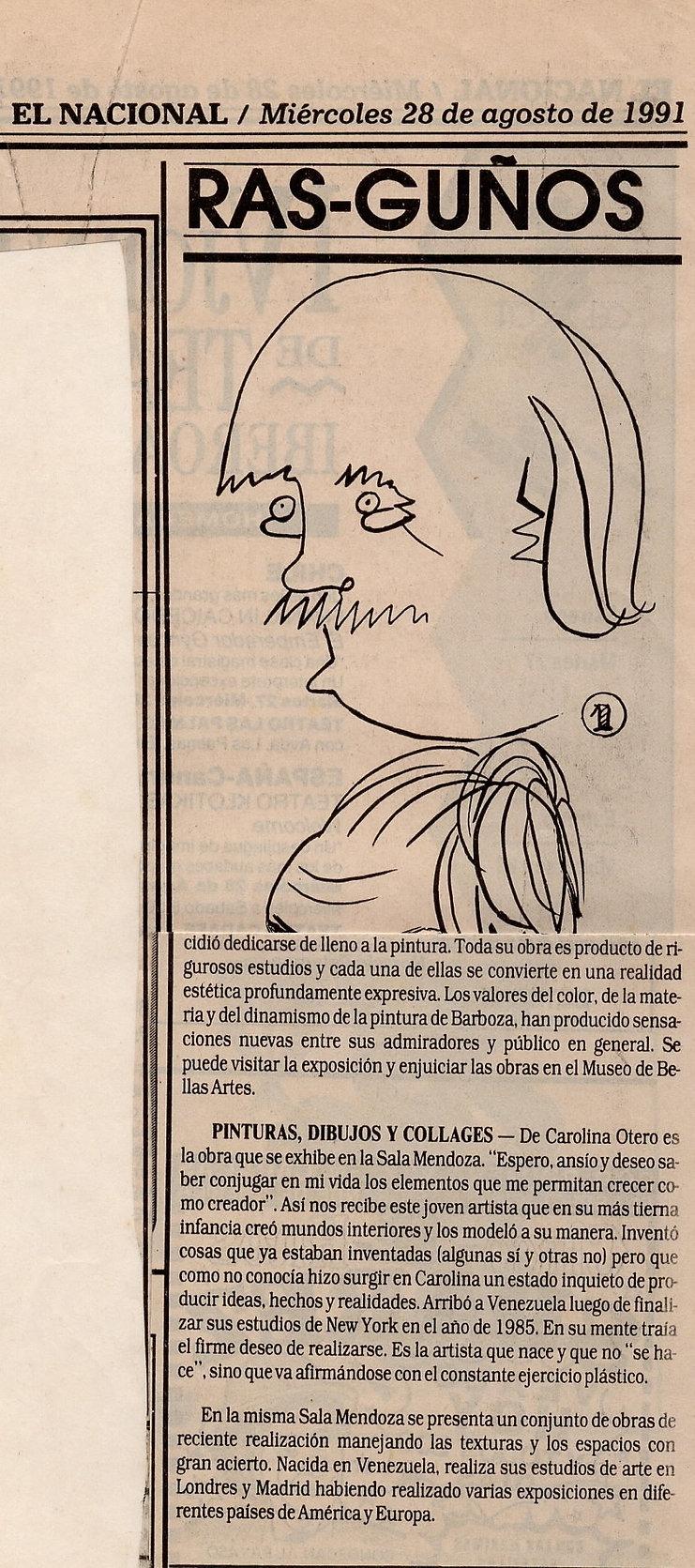 El Nacional. 28 de Agosto 1991.JPG