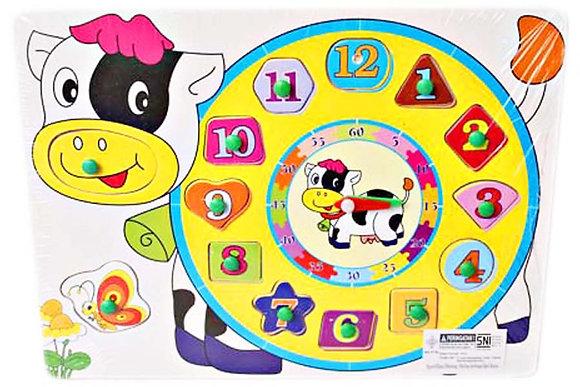 Puzzle Knob Jam Sapi F0807