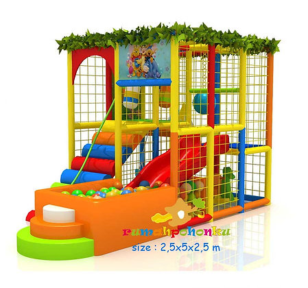 Cute ball pit indoor playground