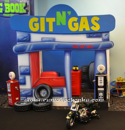 Gas station playhouse