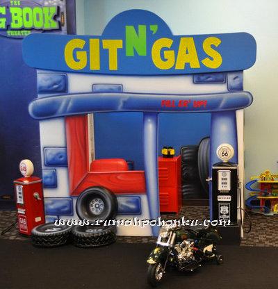 Gas station playhouse