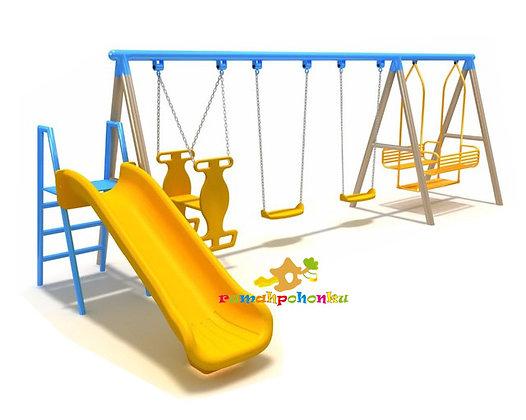 Multiple Swing Set Slide 1