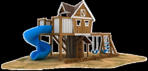 desain playground rumah pohon