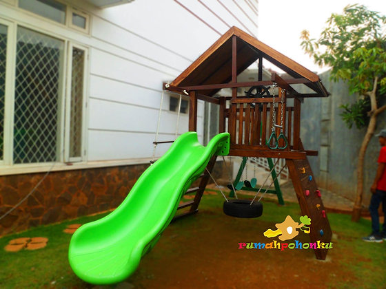 Playfort 2 atap kayu