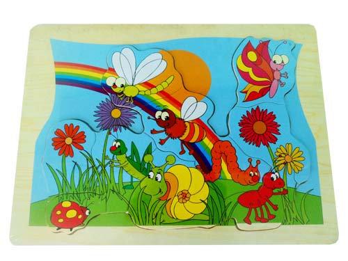 Puzzle Bunga dan Serangga