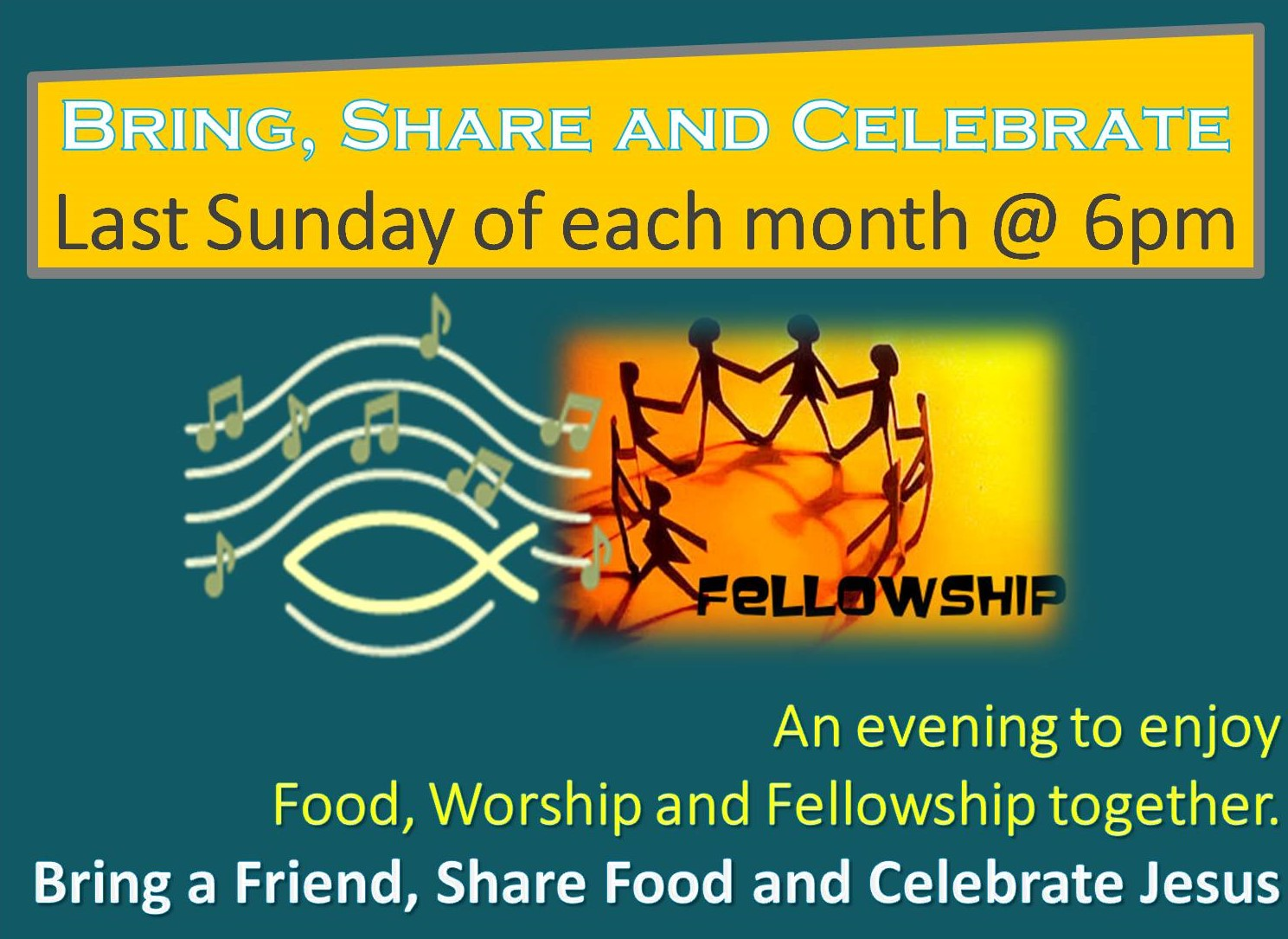 Bring share and celebrate