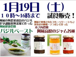 阿蘇のバジルペースト・ジャムの試食セール!