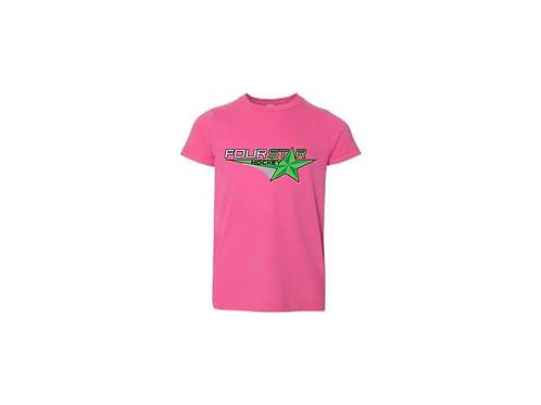 Four Star Hockey Tee - Pink