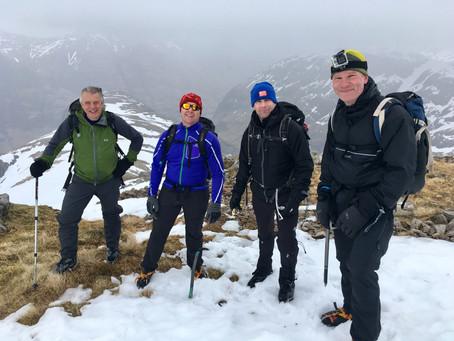 Glen Coe, Winter walking