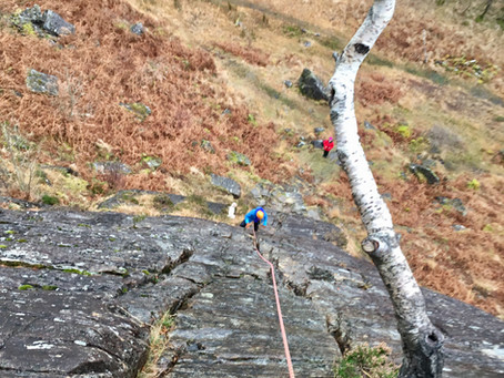 Rock climbing, Glen Nevis