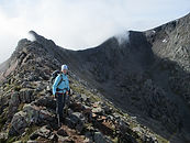 Lady on the CMD arete