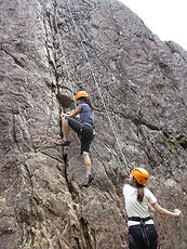Person climbing in Glen Nevis