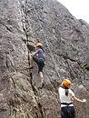 Rock climbing in Glen Nevis