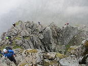 People on Ledge route Ben Nevis