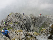 People climbing on Ledge Route