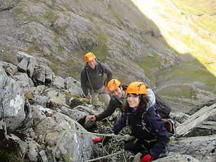 People on Tower Ridge, Ben Nevis