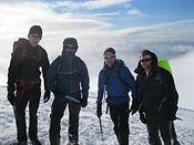 People on Ben Nevis in winter