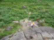Person climbing in Glen Nevis
