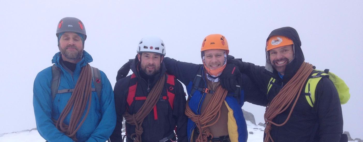 4 people mountaineering