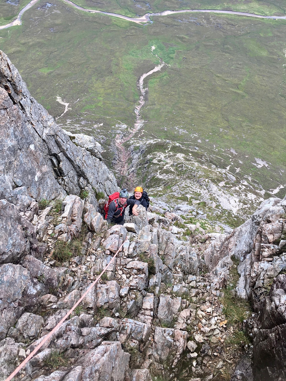 North Buttress climbing, Buachaille Etive Mor, Glencoe