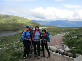 Guided walk up Ben Nevis by the mountain track