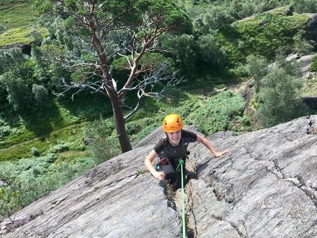 Family climbing in Glen Nevis