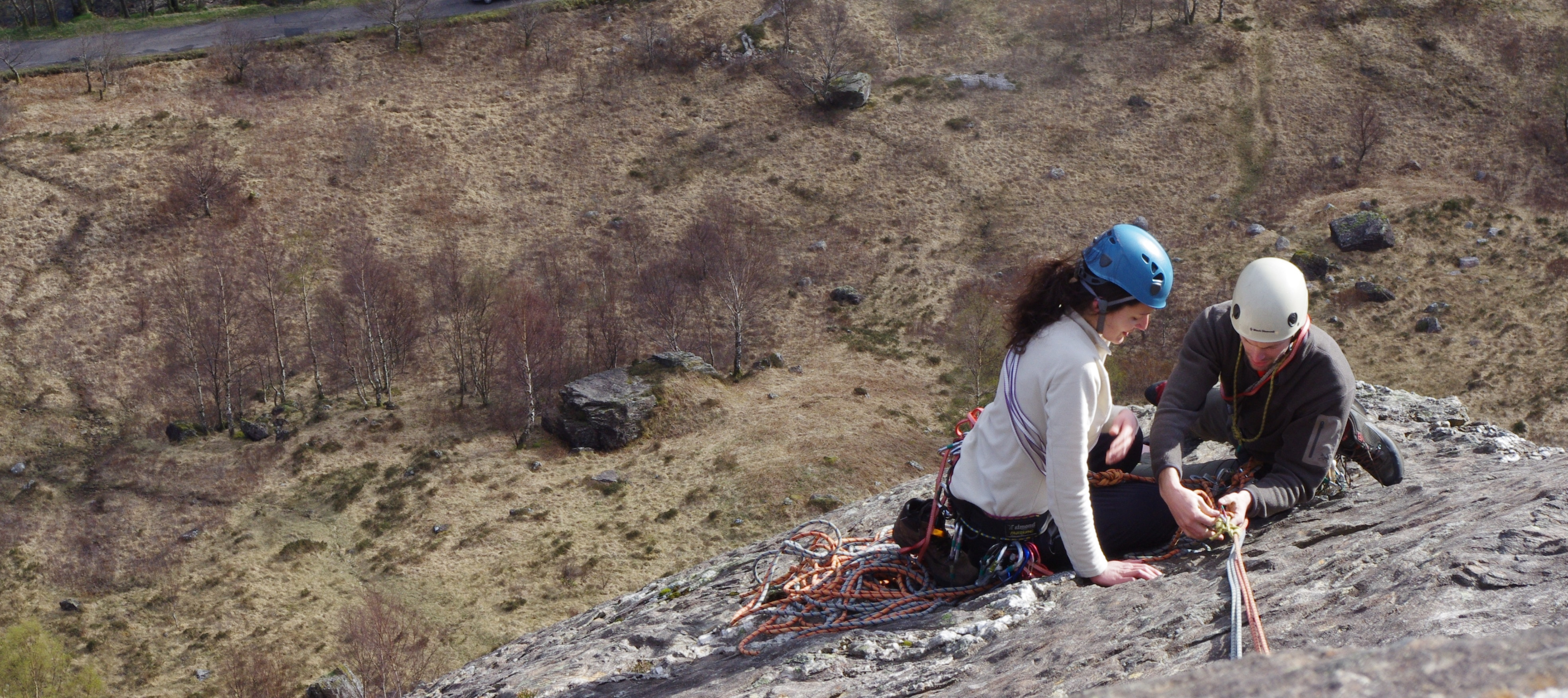 Learning to climb in Glen Nevis