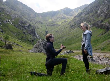 Lost Valley wedding proposal in Glencoe