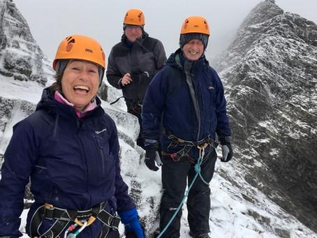 Snowy spring on the Skye Munros
