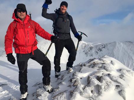 Winter skills course, Stob Ban, Glen Nevis