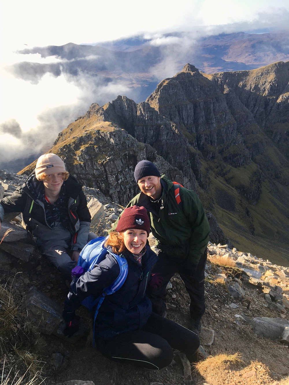 Guided traverse of Liathach, Torridon