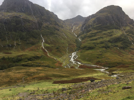 Lost valley, Glen Coe and Steall falls, Glen Nevis