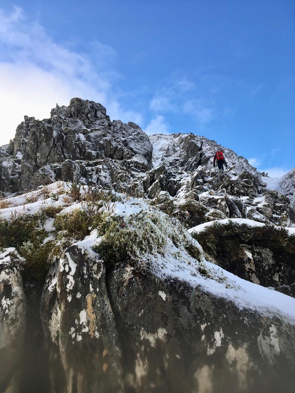 Guided winter climbing on Ben Nevis